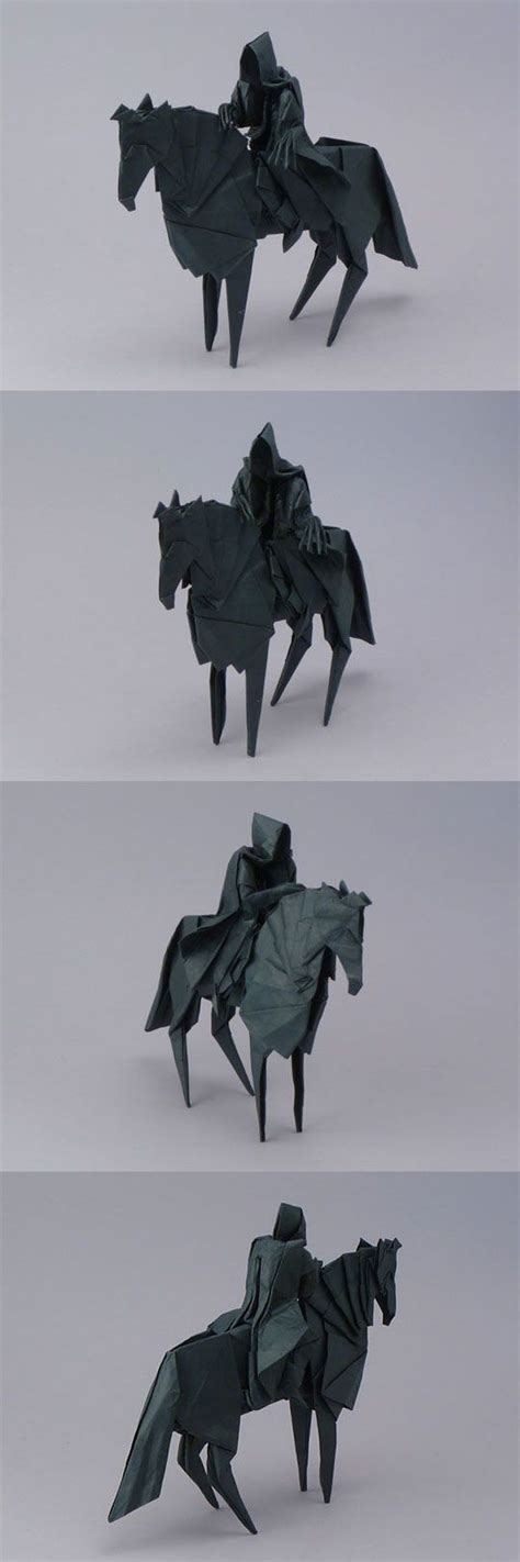 Origami Nazgul - origami nazgul the lord of the rings