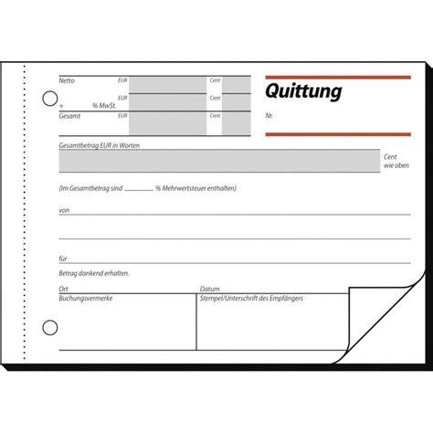 Word Vorlage Quittungsbeleg Formular Quittung Mit Kopie Im Conrad Shop 775294