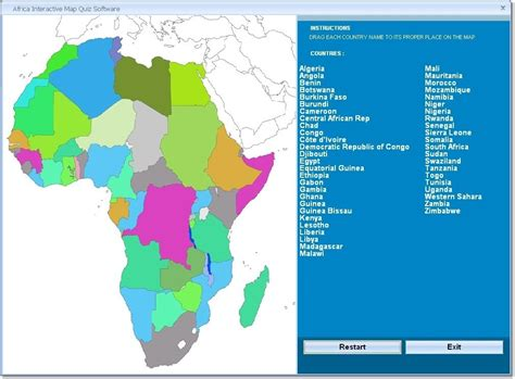 africa map quiz drag and drop africa interactive map quiz software drag and drop the