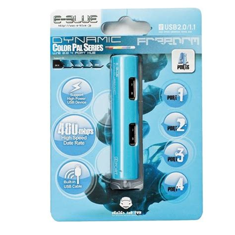 E Blue Usb Hub Dynamic by E Blue Dynamic Blue 4 Ports Mini Usb Hub Ehb037bl Mkh