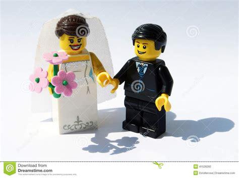lego bride  groom stock photo image  figurine