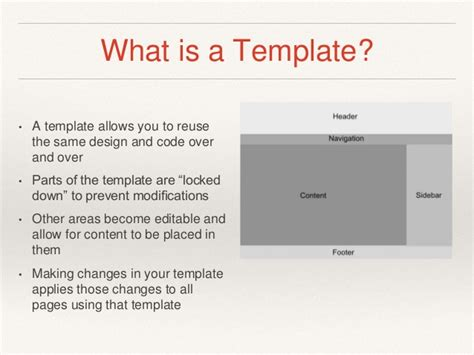 Module 4 Dreamweaver Templates Static Vs Dynamic Content What Is A Dreamweaver Template