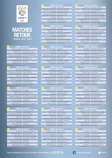 Psg Calendrier Ligue Des Chions 2013 Matchs Retour Ligue 1 2012 2013 Tuxboard