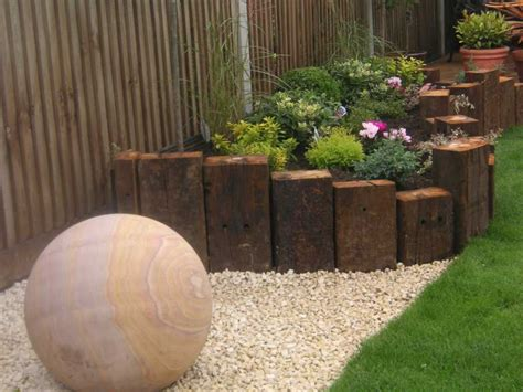 Garden Design Using Sleepers by Railway Sleepers Pride Home Services