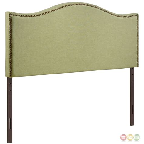 silver headboard queen curl silver nail head ecclestone queen upholstered