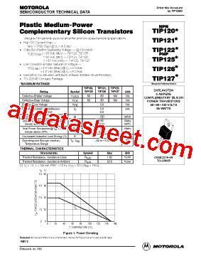 transistor tip122 datasheet pdf tip122 datasheet pdf motorola inc