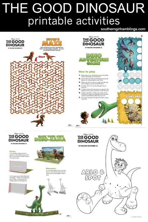 printable birthday activity sheets disney s the good dinosaur printable activity sheets
