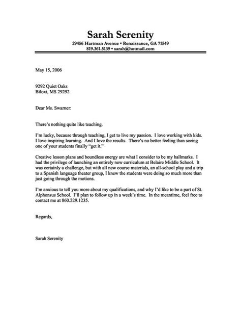 Ses Tutor Cover Letter by Cover Letter Exle Of A With A For Teaching Search Letter