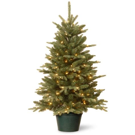 3ft everyday collections potted feel real artificial christmas tree national tree company 36 in everyday collection evergreen tree with clear lights ed3 307 30