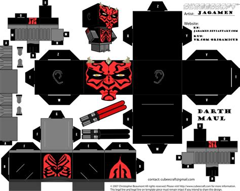 Paper Craft Wars - darth maul ver clone wars cubeecraft by jagamen