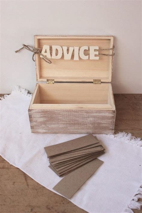 Wedding Advice Guest Book by Wedding Advice Guest Book Box White Wash Wooden Quot Advice