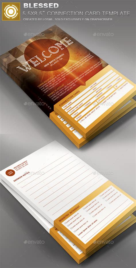 church connection card template vector blessed church connection card template by loswl