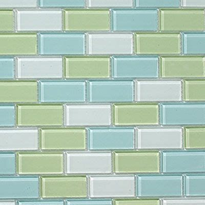 subway tile colors glass subway tiles in muted sea glass colors of aqua and
