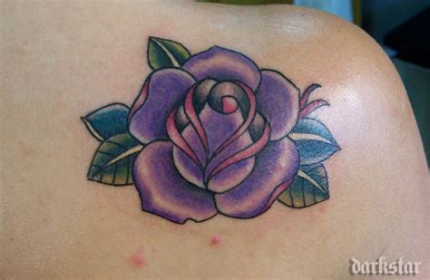 black and purple rose tattoo purple black and purple tattoos