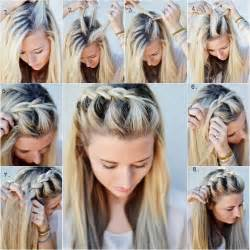 diy half up side braid hairstyle simple to follow