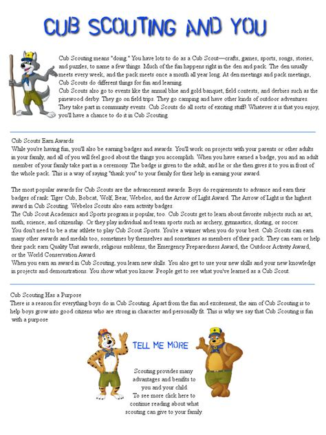 Welcome To Cub Scout Pack 23 Bsa Newsletter Template