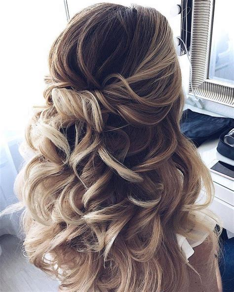 Wedding Hairstyles Waves by Half Up Half Waves Hairstyle Partial Updo Wedding