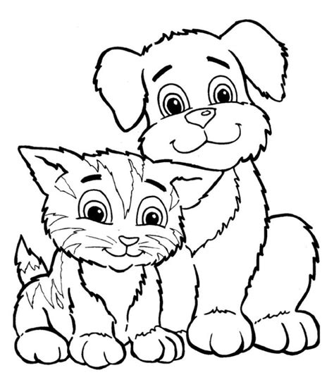 coloring pages of puppies and kittens coloring home baby puppy and kitten coloring pages coloring home