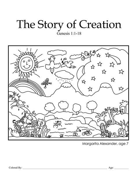 creation coloring pages for preschoolers creation