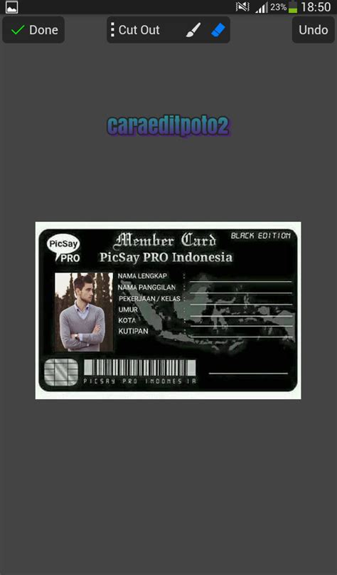 tutorial puzzle effect dengan picsay pro cara edit foto membuat kartu member picsay pro android
