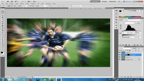 zoom effect in photoshop digiretus com photoshop cs5 zoom burst blur effect tutorial youtube