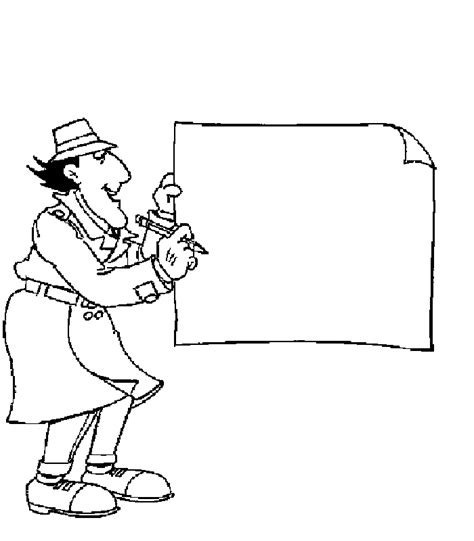 Inspector Gadget Coloring Pages Coloringpagesabc Com Inspector Gadget Coloring Pages