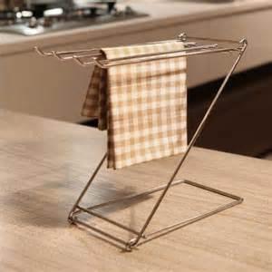 kitchen dish towel folding rack statinless steel