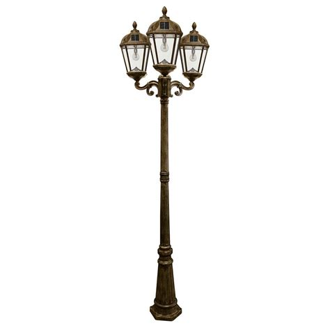 Outdoor Solar Post Light Fixtures Gama Sonic Royal Bulb Series 3 Weathered Bronze Integrated Led Outdoor Solar L Post With