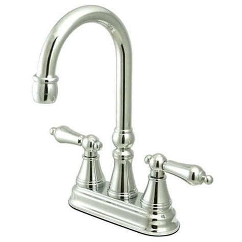 Prep Sink Faucets by Kingston Brass Chrome Two Handle 4 Quot Centerset Bar Prep
