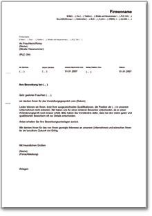 Musterbrief Einladung Absagen Absage Nach Vorstellungsgespr 228 Ch Musterbrief Zum