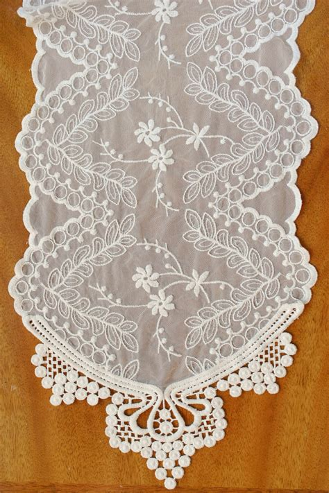 ivory lace runner sashes banners signs