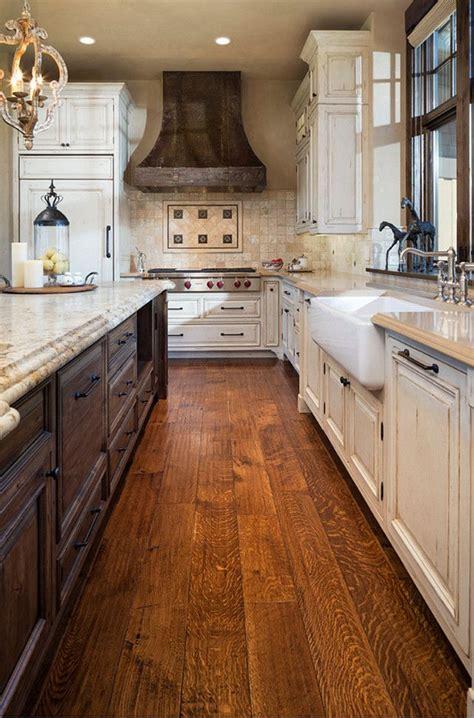 distressed rustic kitchen kitchens pinterest rustic