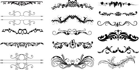 free font design elements dividers free ornament floral vector dividers photoshop