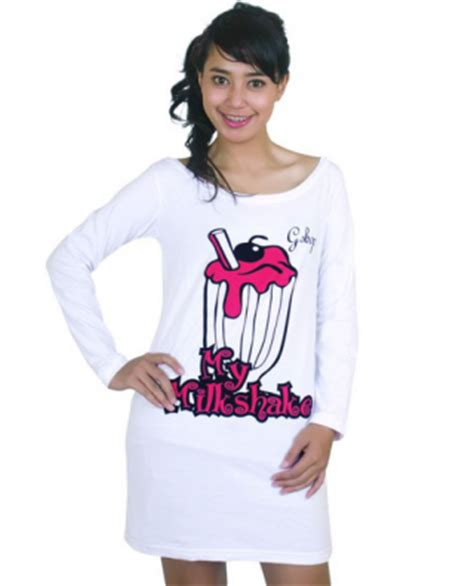 Kaos Lengan Panjang Wanita I M Muslim Putih Murah 1 jual baju wanita on line kaos g shop putih milkshake
