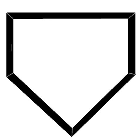 home plate clipart