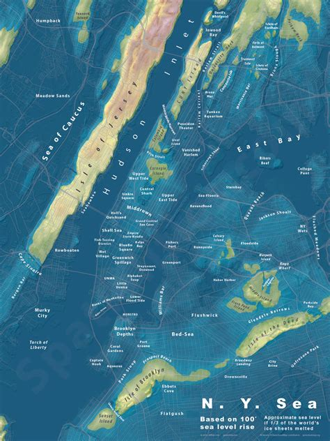 us navy global warming map what would nyc look like if sea levels 100 6sqft
