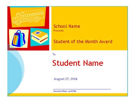 student of the month template student of the month template student of the month
