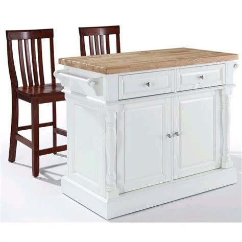 crosley butcher block top kitchen island crosley oxford butcher block top kitchen island with stools in white kf300062wh