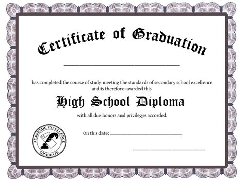 free ged diploma template high school studies homeschool college usa