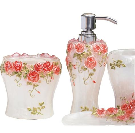 red rose bathroom accessories red rose bathroom accessories bathroom design ideas