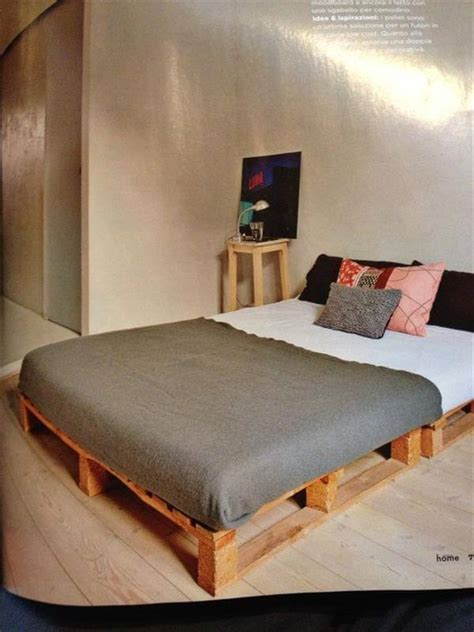 diy pallet bed frame 9 diy easy wooden pallet bed ideas 99 pallets