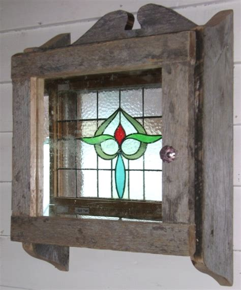 Salvaged Kitchen Cabinets by Rustic Medicine Cabinet Recycling The Past