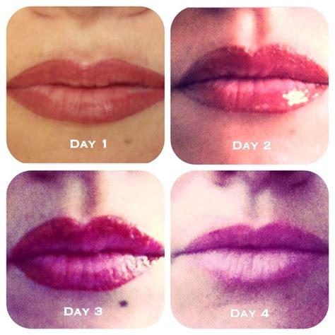tattoo lips healing healing process of a semi permanent lip blush semi