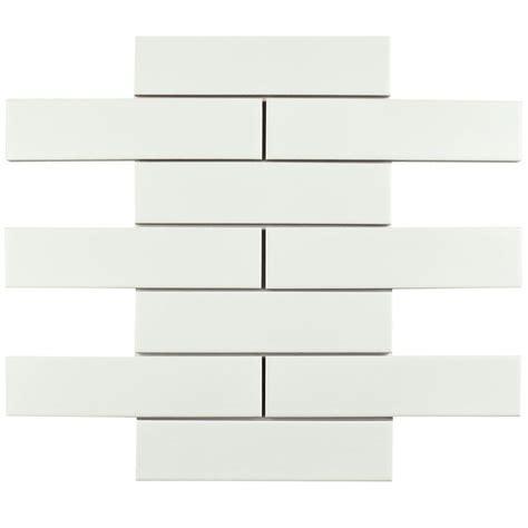 subway tiles white merola tile metro soho subway matte white 1 3 4 in x 7 3