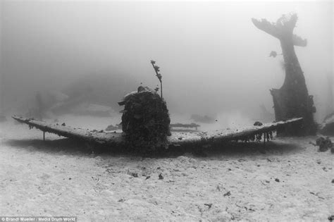 incredible photographs  wwii planes scattered