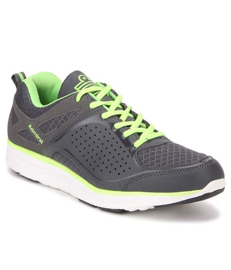 admiral sport shoes admiral varyl grey citron running sports shoes buy