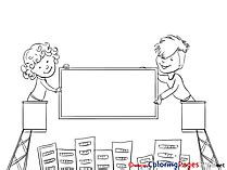 coloring book billboard office coloring pages
