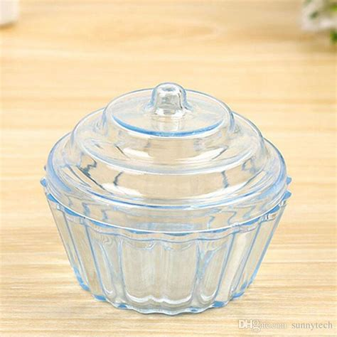 clear mini cake stand cupcake favor candy box wedding birthday container plastic party treat