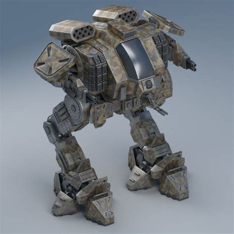 Mecha Model battle mech object26 3d model cgtrader