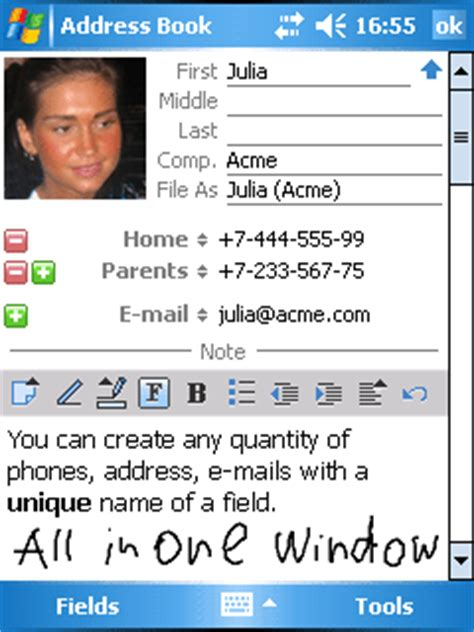 Search Name And Address Inesoft Address Book Additional Name Phones And Fields Instant Search